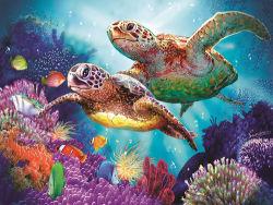 Preiswerter Preis-normaler Öl Cavnas Seeschildkröte-voller Bohrgerät-Diamant-Farbanstrich durch Numbers