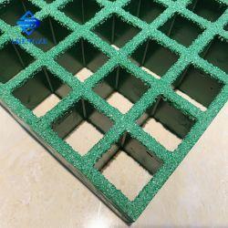 Griglia della grata modellata GRP della vetroresina FRP della superficie dello smeriglio di H25*38*38mm per la piattaforma della barca/passaggio pedonale/stabilimento chimico