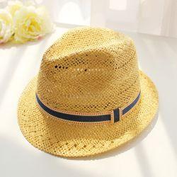 La moda el verano de la cuchara Hat Cap Mens sombrero de paja