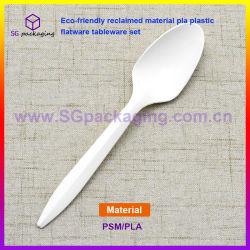 環境に優しい開拓された物質的なPLAのプラスチック平皿類テーブルウェアセット