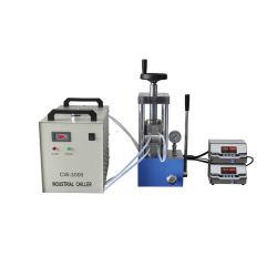 El laboratorio utilizado prensa caliente con doble placa de calefacción, el polvo Caliente pulsando la máquina