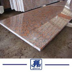 Matériaux de construction en pierre naturelle rouge poli G562 Granite Tile pour sol et mur