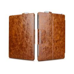 Nouvelle conception de haute qualité en cuir véritable brun Vintage Microsoft Surface PRO 4 comprimé de couvercle de cas