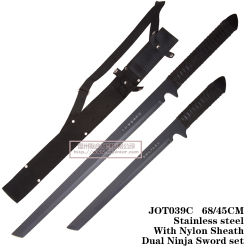 狩猟用ナイフデュアル忍術用ナイフ固定刃 Jot039c