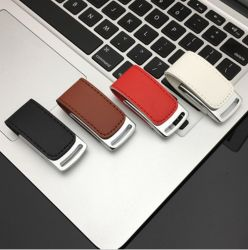 De goedkope Stok van het Geheugen van de Hoge snelheid van het Leer van de Aandrijving van de Flits van de Bevordering USB van de Prijs 4GB 8GB 16GB