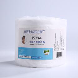 Amigos de la piel Limpieza Facial de Algodón TEJIDO toalla desechable rollo con el diseño de OEM
