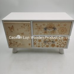 木のキャビネット、木の宝石箱、木の装飾ボックス