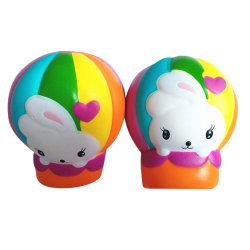 Новый продукт 2020 Заяц круглая насадка для взбивания Squishies душистыми PU Squishy игрушки