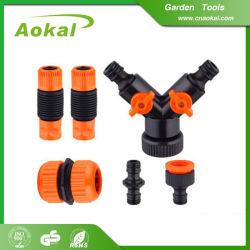 A melhor forma de duas divisor da mangueira do tubo de borracha de água da torneira de jardim divisor