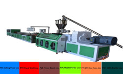 Pagina di portello del PVC WPC della plastica/comitato di soffitto del pavimento Board/PVC della scheda/Spc gomma piuma di Skining/tubo che fa macchina