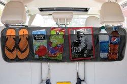 Plegado multifunción grandes bolsillos de malla organizador de viajes Alquiler de asiento de atrás de la bolsa de almacenamiento