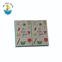 ドミノのカード箱は子供のためのパンフレットのハードカバーボックスによってセットした