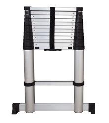 アルミニウム最終的な梯子の設計ワンタッチ解放多目的のまっすぐな伸縮式梯子