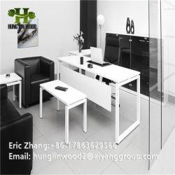 Hotsale Ankunft MDF-Melamin-Büro-Schreibtisch mit Aluminiumlegierung-Dekoration