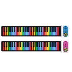 Roll-up Eletrônico Educacional Música Digital Teclado de piano com recurso de gravação 8 tons diferentes
