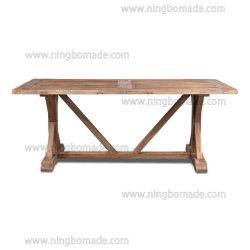 프랑스 고전적인 지방 포도 수확 가구 날씨 성격은 느릅나무 상단에 의하여 개선된 소나무 기초 십자가 측 기초 테이블을 개선했다