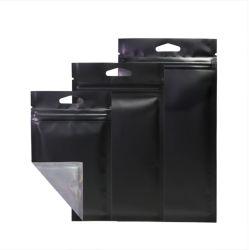 PlastikDoypack Aluminiumfolie MattBalck Reißverschluss-Quetschkissen des Verpacken- der Lebensmittelmit Reißverschluss und Ventil für trockene Nahrungsmittelkaffeebohnen