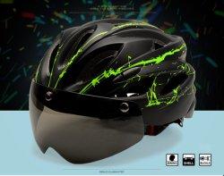 Casco de bicicleta /EPS Integrally-Molded hombres transpirable de casco de bicicleta /Hombres Mujeres lentes gafas Aero casco de bicicleta de montaña carretera