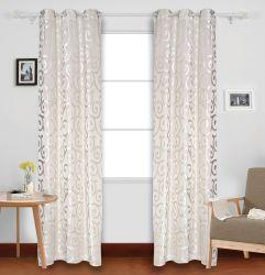 100% de poliéster Warp Tricotar Design Jacquard Densa Cortina da janela