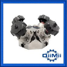 Aço inoxidável 316L 4 Portas da Válvula de diafragma para a Indústria Farmacêutica