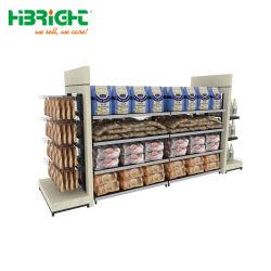 Épicerie télécabine de supermarchés de bois d'étagères en métal