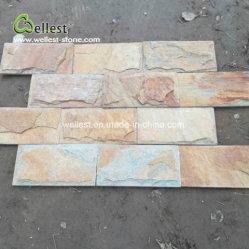 Rusty Quarzite Mushroom mosaico para azulejos decorativos de pared de piedra al aire libre