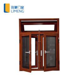 100/Awing aluminio Casement ventana con la pantalla de la mosca de acero