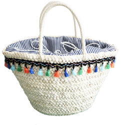 2019 Summer Corn Peel Knitted Lady Handbag Straw Bag