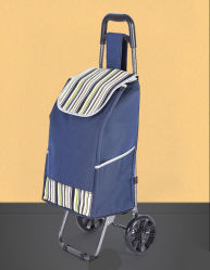 Chariot Dolly Blue Shopping Grocery sac chariot pliable