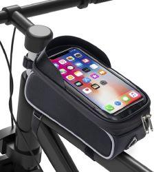Fiets Telefoon Front Frame Bag Waterproof Bicycle Top Tube Cycling Telefoontas met zonneklep met groot aanraakscherm