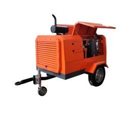 Parafuso de diesel 185 CFM Portable Compressor de Ar para martelo do Macaco