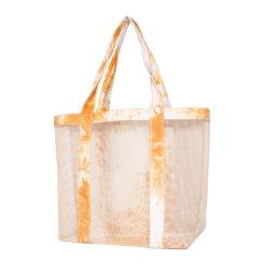 Diseño ligero y portátil fuerte Material de malla Dama bolso para ir de compras deportes de playa Bolsa de viaje