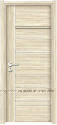 Laminado de melamina acabado en piel puerta con marco de madera y el arquitrabe (P-203)