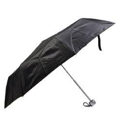 مظلة قابلة للطي من الألومنيوم خفيف الوزن قابلة للطي (أسود)