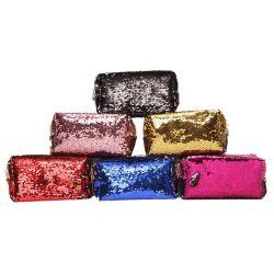 Embrague de lentejuelas brillantes mujeres Mermaid Sequin Bolsa bolsas de maquillaje cosmético Bling Bling