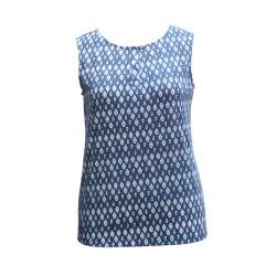 Ropa Mujer ropa casual, camiseta sin mangas de camisa, chaleco de cuello redondo de la moda
