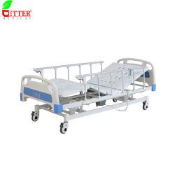 3 Fonction de l'hôpital électrique lit/lit patient/soins infirmiers lit/Fowler lit/lit médical/ICU lit avec matelas et I. V Pole