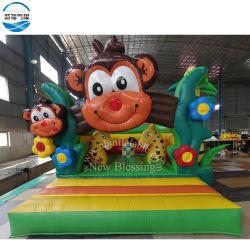 Bouncer gonfiabile del ponticello della scimmia di tema del fumetto, giocattolo animale rimbalzante di salto gonfiabile