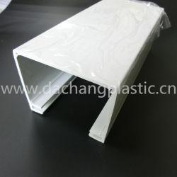 Perfil de extrusão de plástico branco personalizado