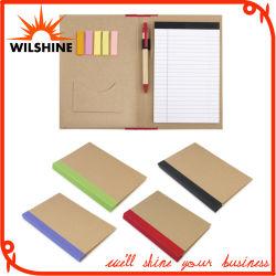 Capot papier mémo d'utilisation quotidienne Dossier de fichiers avec un stylo pour la réunion de l'entreprise (FM405)