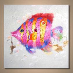 Оптовая торговля ручной работы рыб стены искусства для продажи