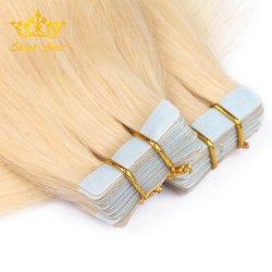 Capelli russi del commercio all'ingrosso dei capelli biondi di Extenisons di colore #613 dell'unità di elaborazione dei capelli biondi del nastro