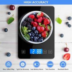 Электронная кухонная весы, цифровая пищевая шкала с закаленным стеклом