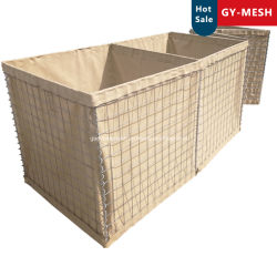 Hesco 방어벽, Hesco Blast Wall, Sand Cage, 용접된 Gabion Box, 국방용 폭탄 벽