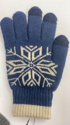 Kundenspezifischer Unisexwinter-warme Handschuhe, Form strickten Screen-Handschuhe für Telefon