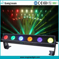 단계를 위한 옥외 LED 곁눈 가리개 6*25W Rgbaw LED 벽 세탁기