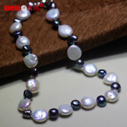 Pièce naturel Collier de perles d'eau douce Baroque de conception pour les femmes