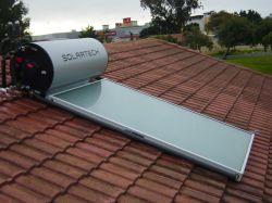 150litres Geyser solaire réservoir avec capteur solaire plat monté sur le toit incliné