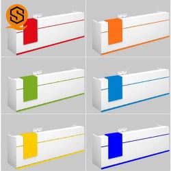 Glatter Corians fester moderner LED Empfang-Oberflächenschreibtisch für Förderung