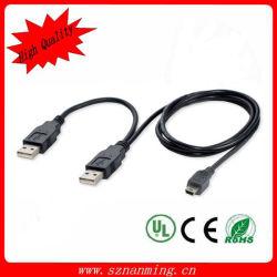 Мужчина женщины 1 кабеля 2 Splitter USB